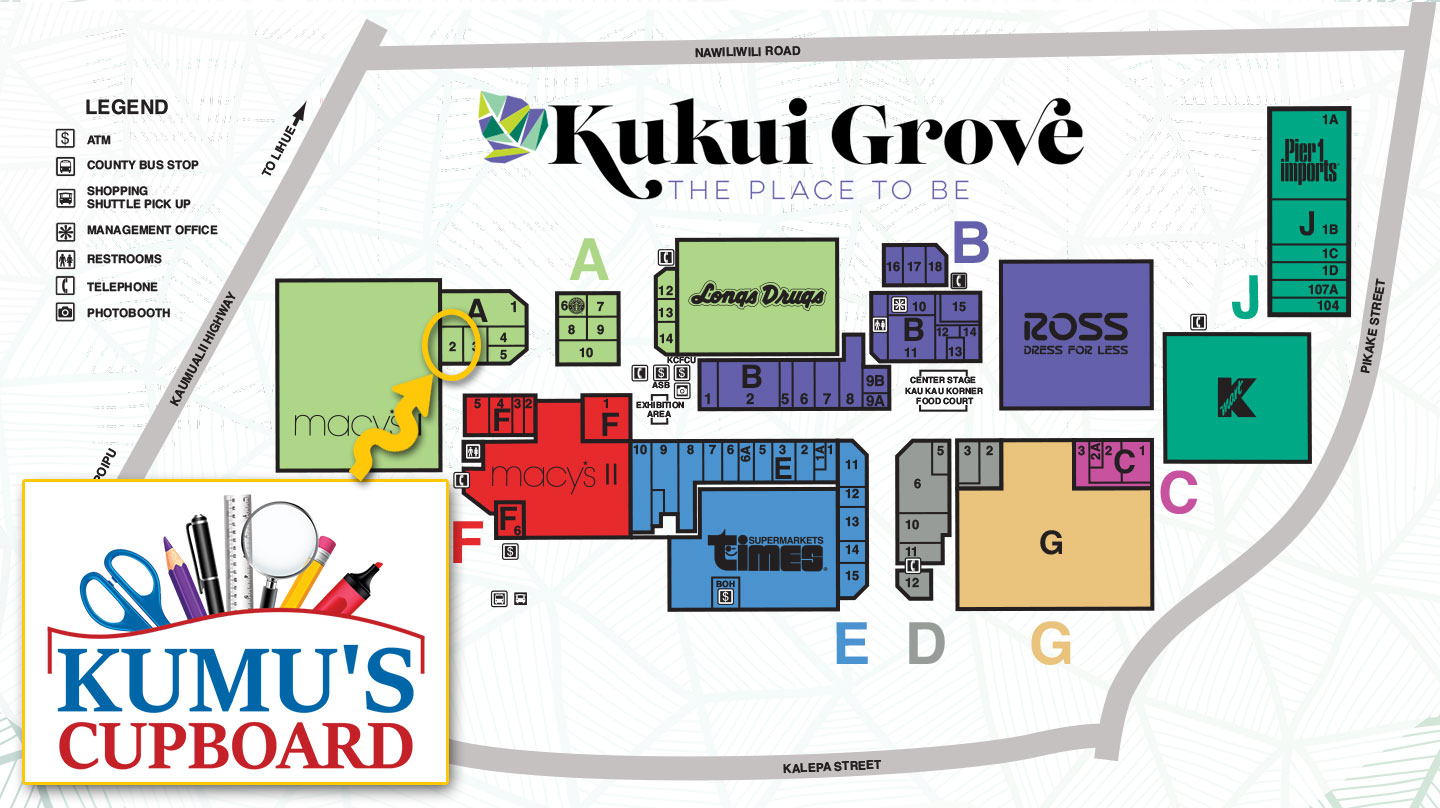 Kumu's Cupboard Map