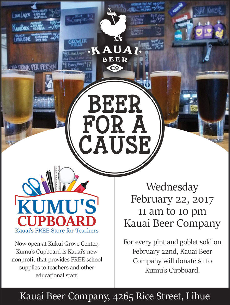 Past Event: Kauai Beer Company Beer for a Cause