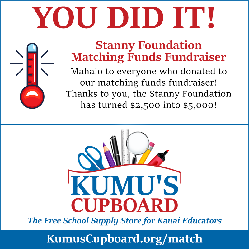 Stanny Foundation Matching Funds Fundraiser You Did It