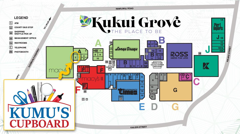 Kumu's Cupboard Map