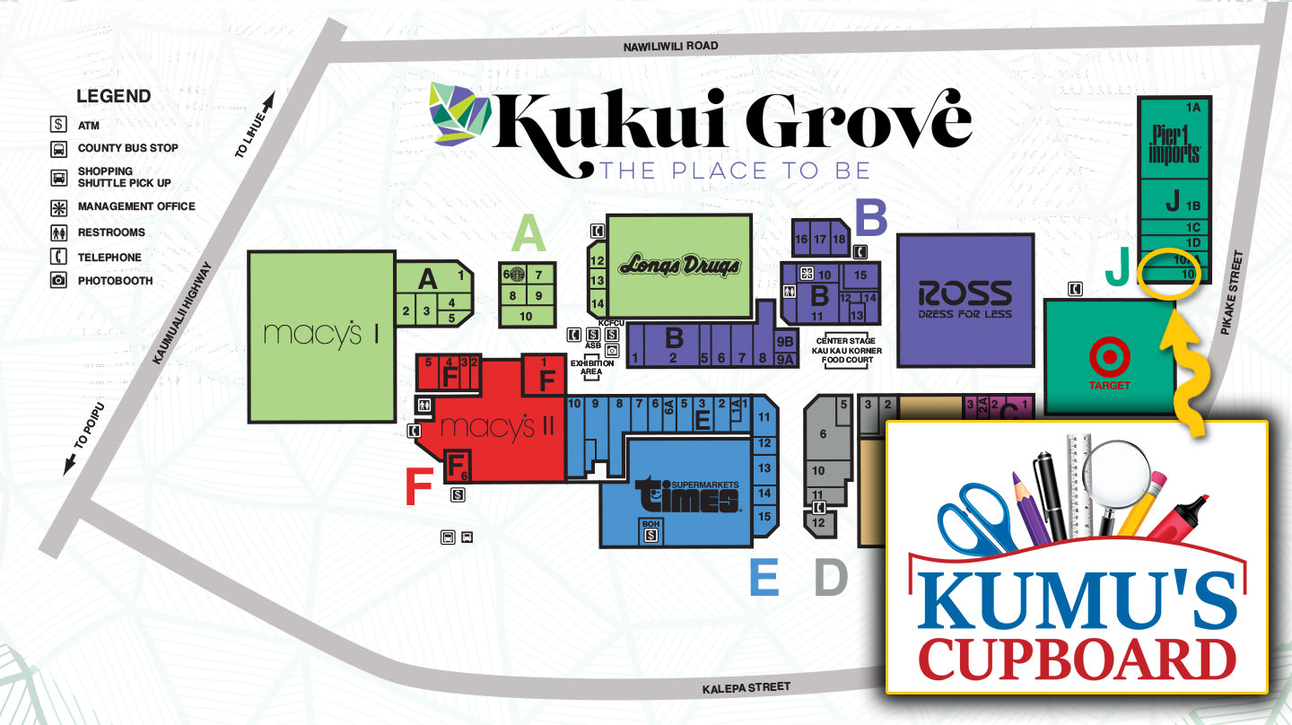 Kukui Grove Center Map